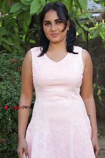 Actress Srushti Dange Stills in Short Dress at Mupparimanam Press Meet  0029.jpg