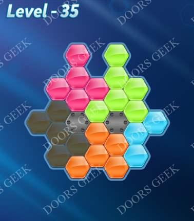 Block! Hexa Puzzle [5 Mania] Level 35 Solution, Cheats, Walkthrough for android, iphone, ipad, ipod