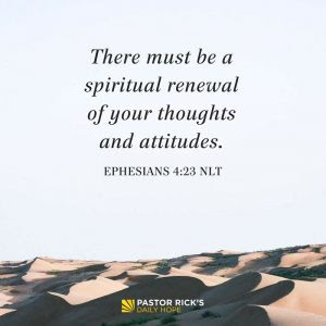 Principles for Personal Change: New Thinking by Rick Warren