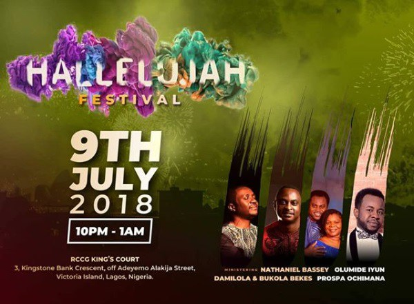 HALLELUJAH: Join Hallelujah Festival 9th July 2018 with Nathaniel