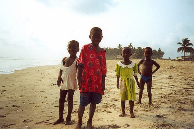 Beyin Beach, Ghana in 1971