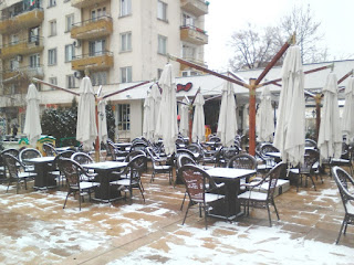 Snow, Cold, Yambol, Coffee Drinkers, Cafe,