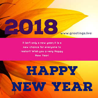 Bright Sparkling Happy new year 2018