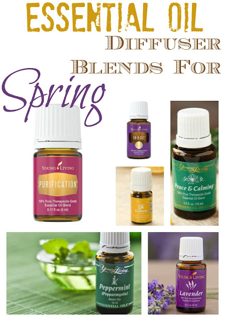 Check out these essential oil diffuser blends for allergies, in home air purification, motivation and energy for spring cleaning and more!