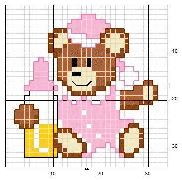 Cross Stitch Teddy Bears Schemiapuntocroce It Scarica
