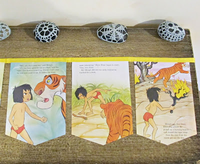 the jungle book bunting banner garland domum vindemia etsy mowgli shere khan nursery bedroom children