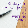 Whimsical Words: Finding my Writing Voice (a 31 days series)