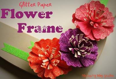 Glitter Paper Flower Frame