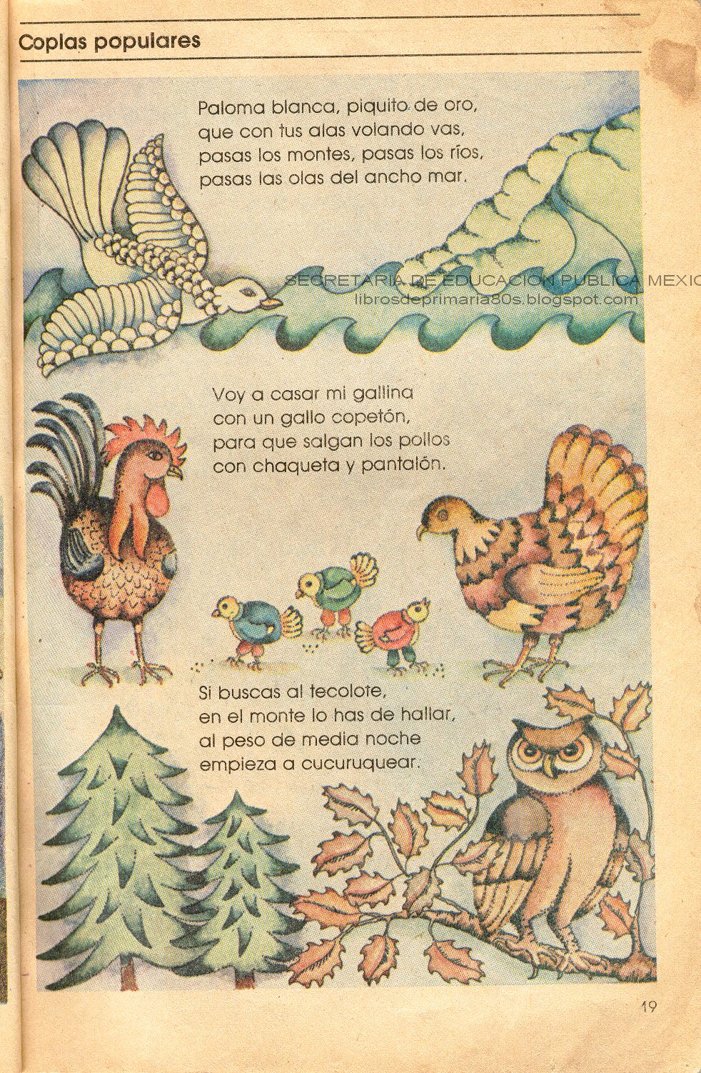 Libros de primaria de los 80 39 s coplas populares espa ol for Espanol lecturas cuarto grado 1993