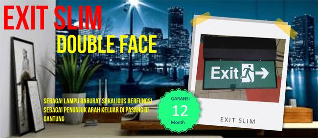 Exit Slim Double Face Emergency Exit