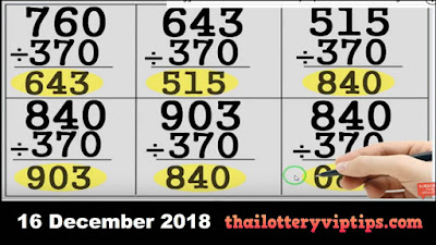 Thai lottery non miss htf single sure pair tip paper 16 December 2018