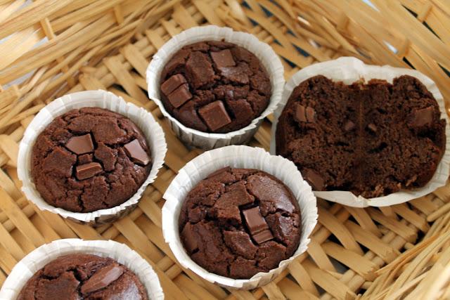 Muffins de chocolate tipo Starbucks (sin azúcar)