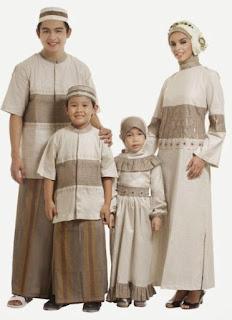 Baju Muslim Kembar Ayah Ibu Dan Anak