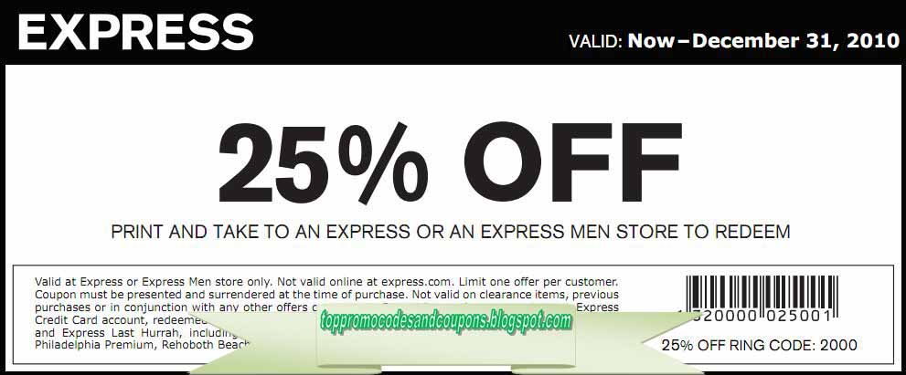 express coupon in store december 2019