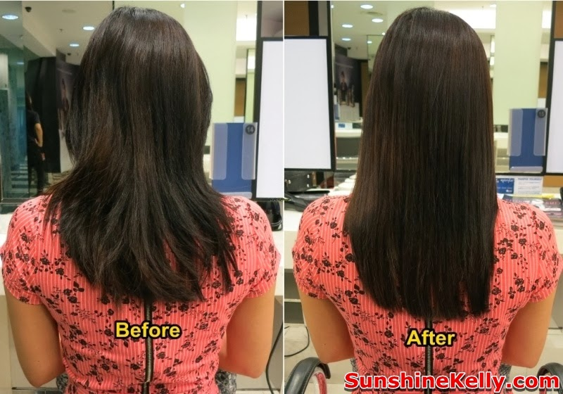before and after Steambond X-Tenso Hair Treatment by L'Oreal Professionnel, Steambond X-Tenso Hair Treatment, L'Oreal Professionnel, Steambond L'Oreal Professionnel, hair treatment, steambond, steampod