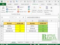 Cara Menggunakan Fungsi INDEX dan MATCH di Excel