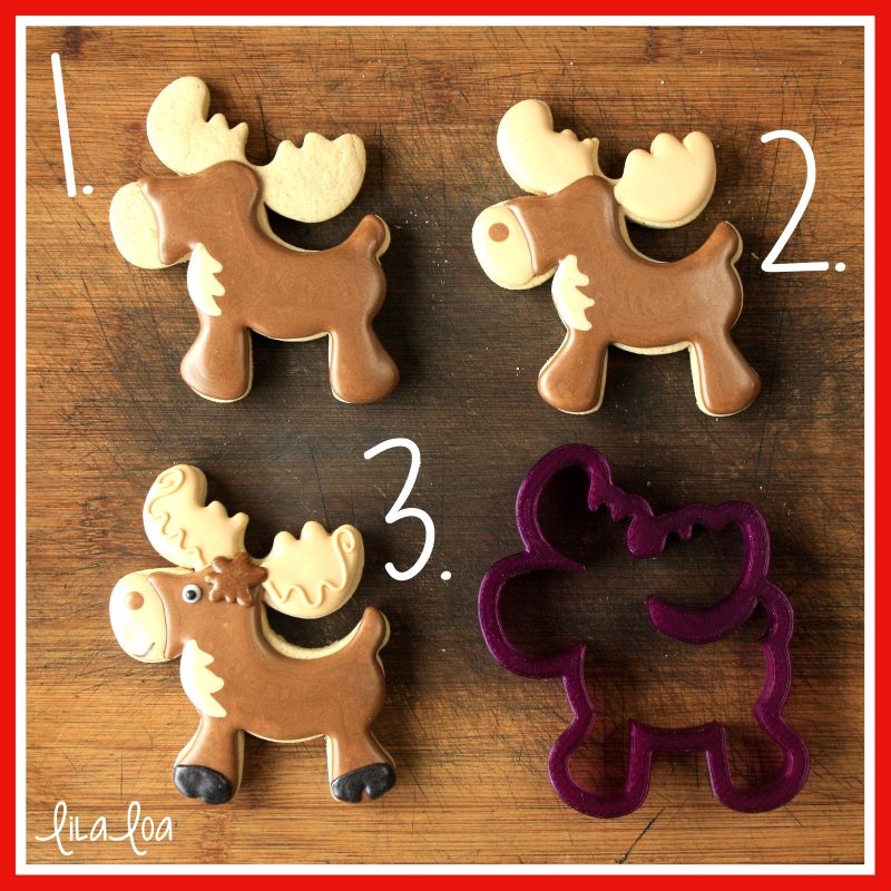 Cute moose sugar cookie decorating tutorial