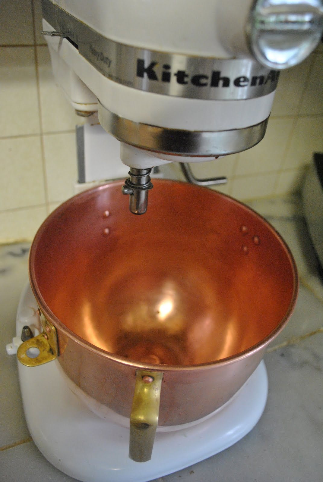 It S Copper Inside And Out Yes Does A Very Good Job With Egg Whites But The Bowl I Keep On Mixer Stand Use