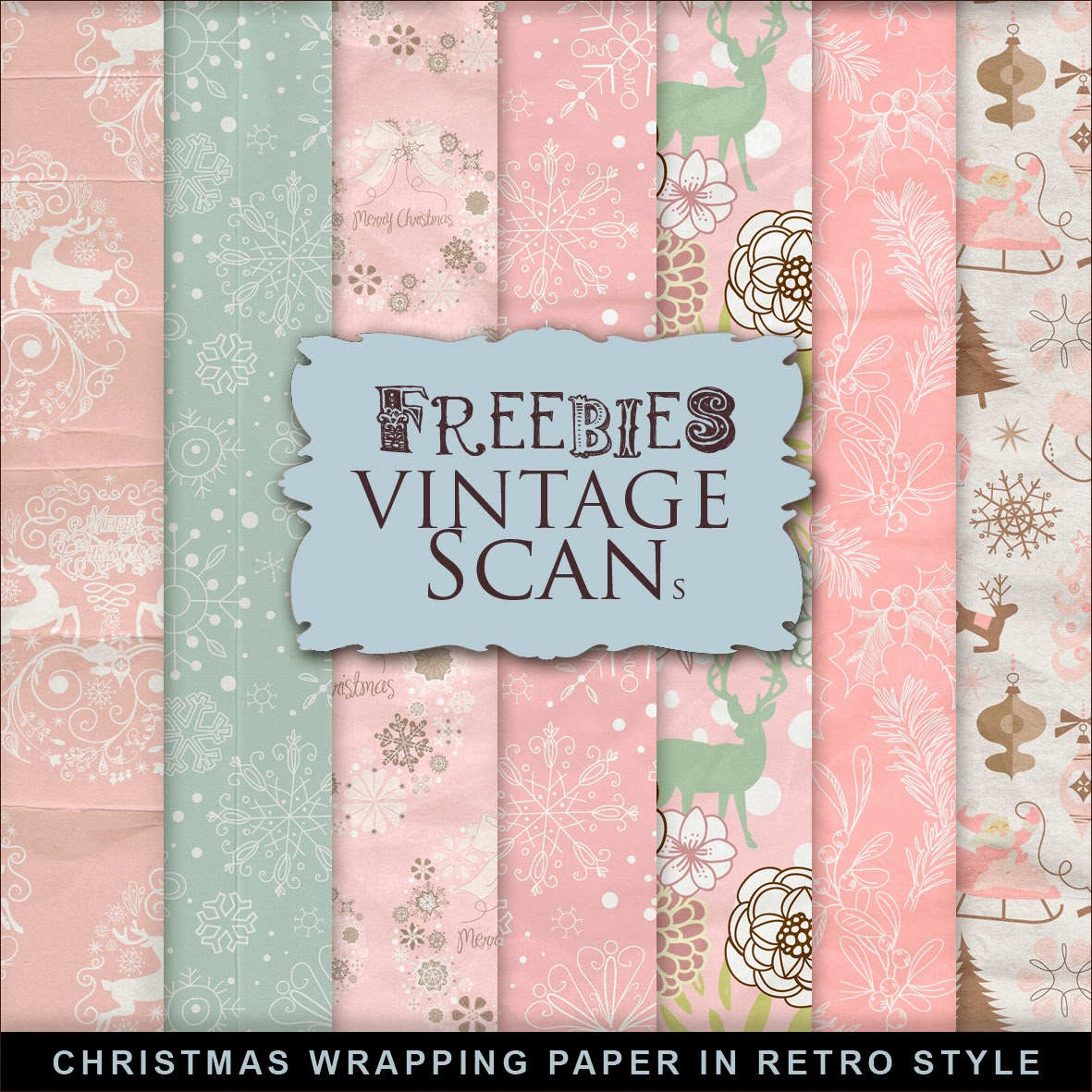 Vintage Book Cover Wrapping Paper : New freebies christmas paper far hill free database