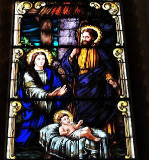 Vitral da Catedral de Santa Maria (RS) - Nascimento de Jesus