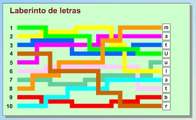 Resultado de imagen de LABERINTO DE LETRAS GENMAGIC