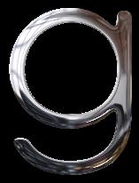 Abecedario Metálico Plateado. Silver Letters.