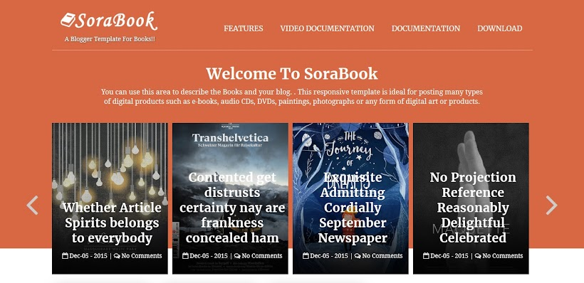 SoraBook Free Blogger Template