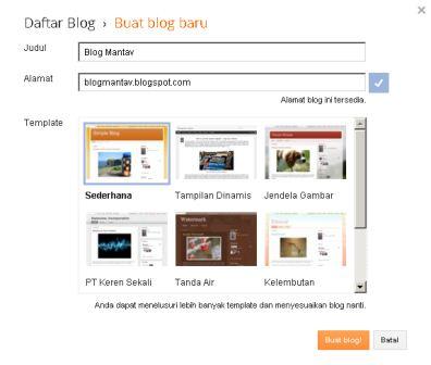 Cara membuat blogspot baru