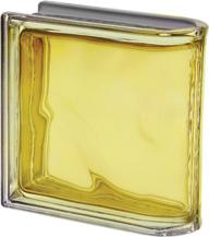 brique de verre de finition jaune