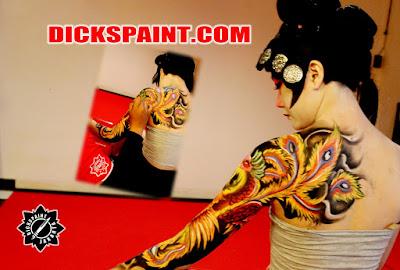 Body Painting Phoenix Sexy Girl Jakarta
