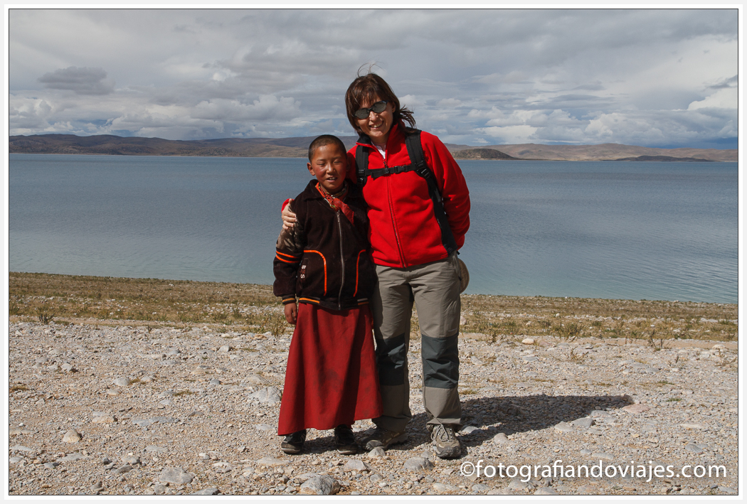 monje peregrino lago Namtso