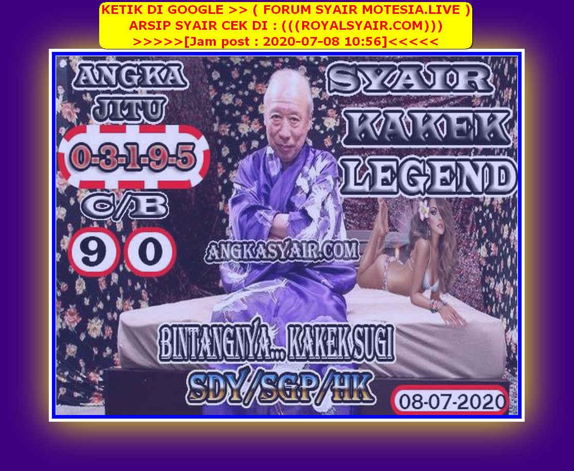Kode syair Singapore Rabu 8 Juli 2020 117