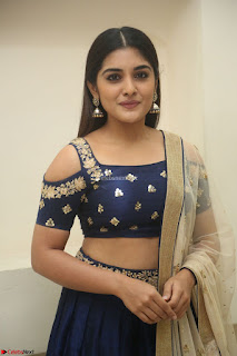 Niveda Thomas in Lovely Blue Cold Shoulder Ghagra Choli Transparent Chunni ~ Exclusive Celebrities Galleries 029