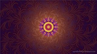 Flourishes Spirit Mandala With Purple Colourful Background Design