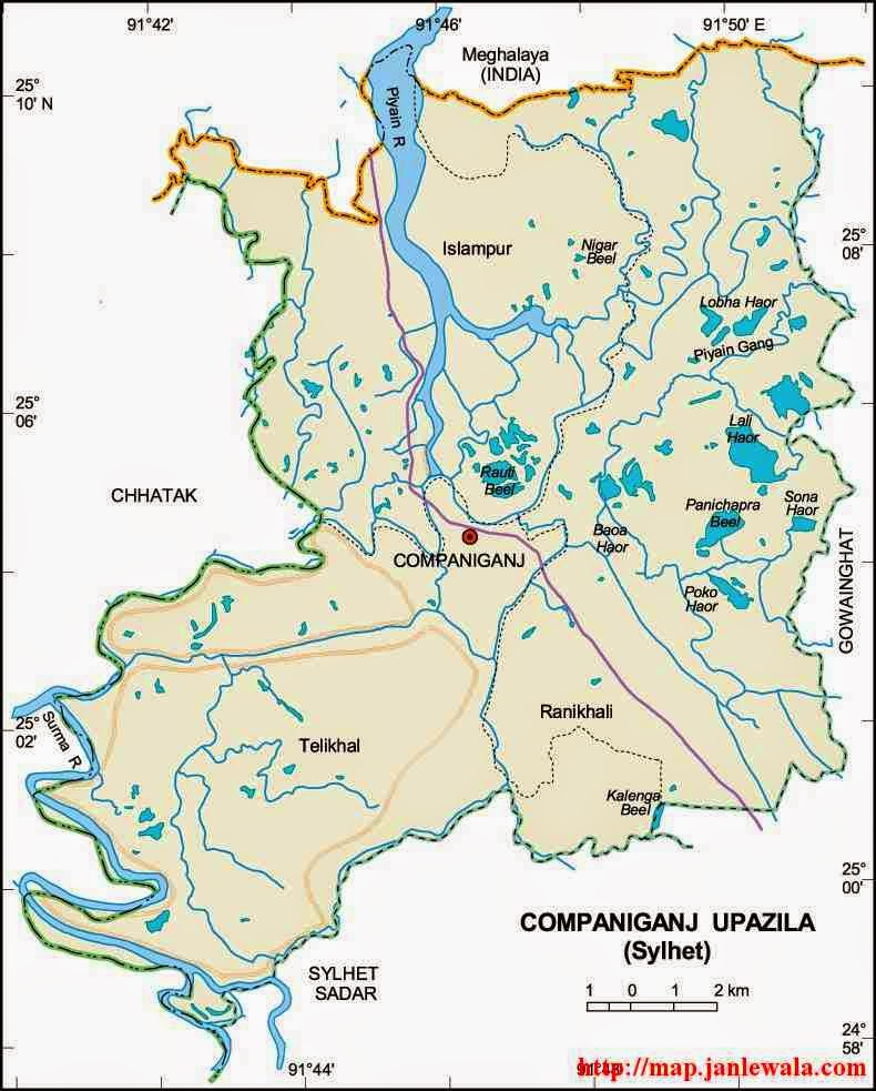 sylhet tourist map, local government engineering department (lged ...