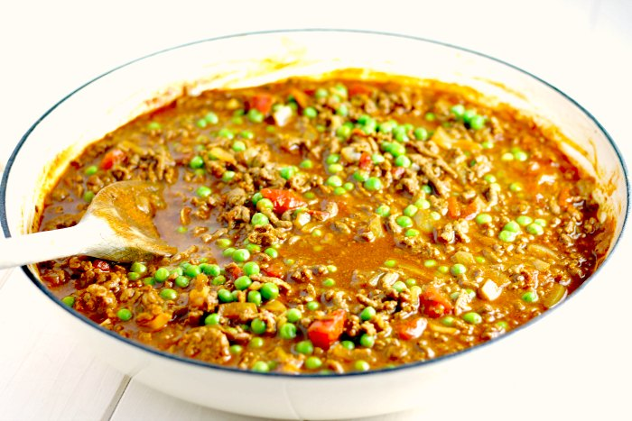 Curried Mince and Peas