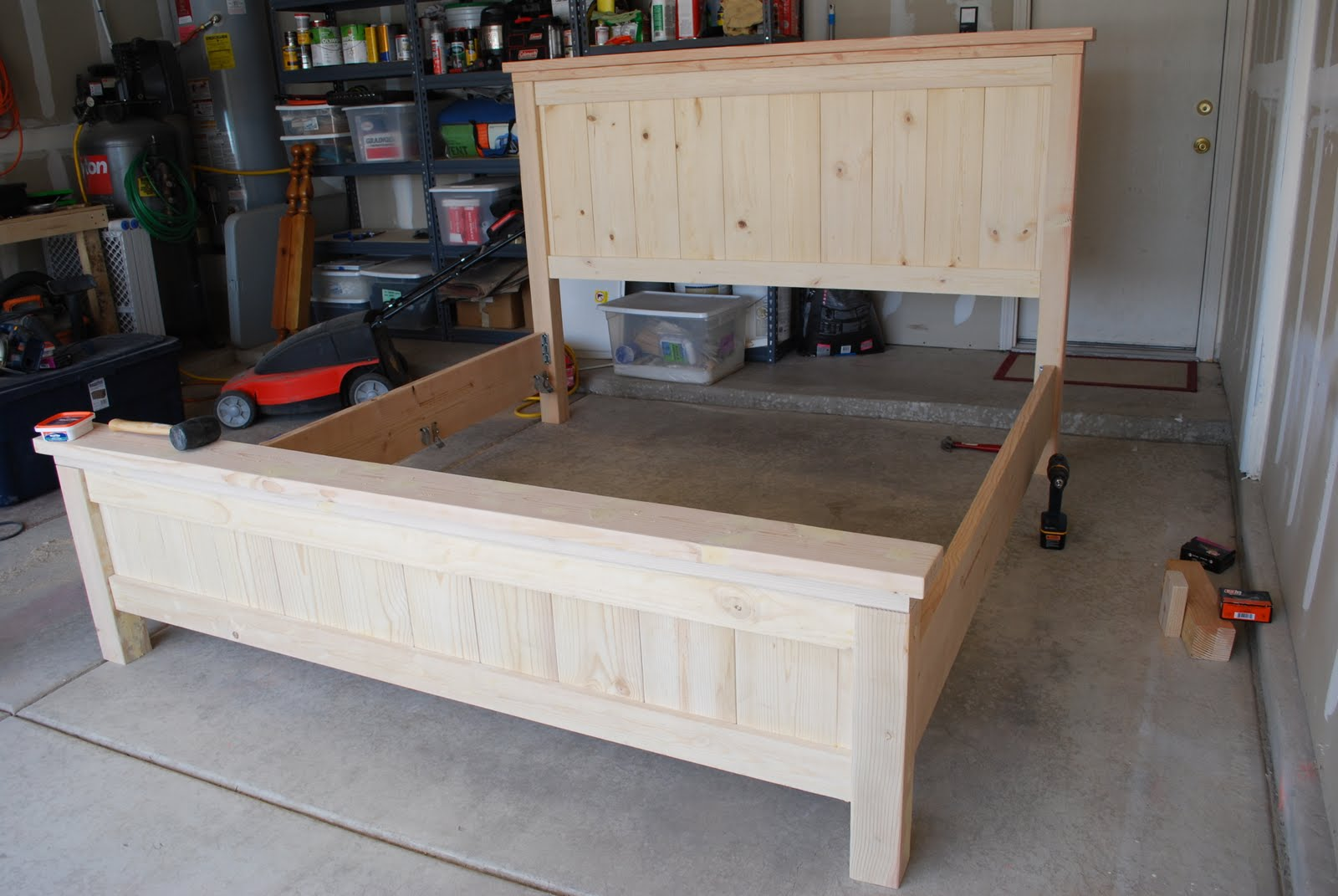 Farmhouse Bed Plans King Woodworking