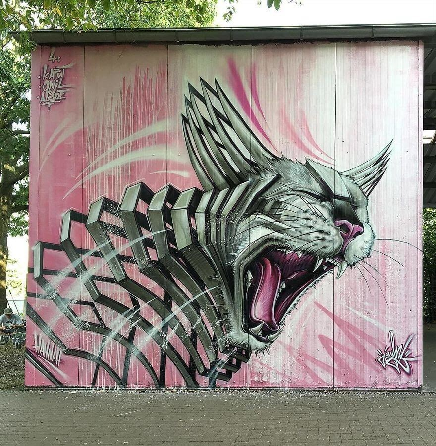 09-Cat-Jayn-Slice-Style-Animal-Street-Art-www-designstack-co