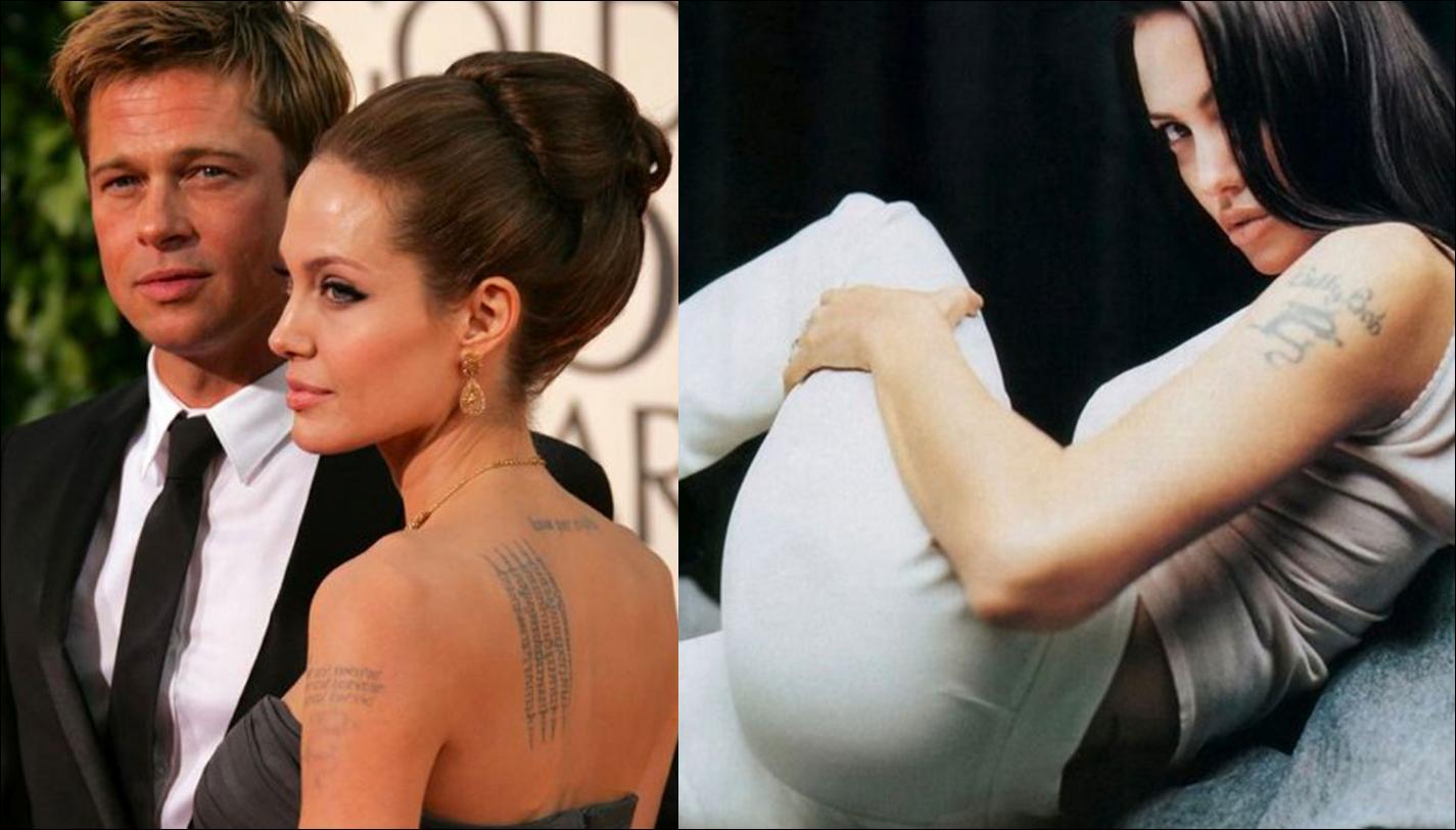 Brainsy Heart: Celebrity Tattoos Angelina Jolie