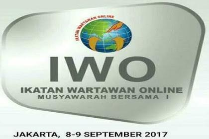 Besok, IWO Gelar Mubes Wartawan Online di Jakarta