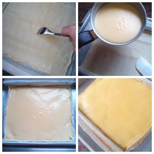 detalle paso a paso tarta de hojaldre con frutas- crema pastelera