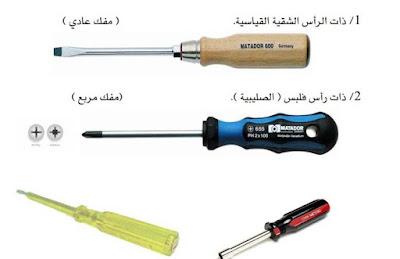 العدد والادوات  المستخدمة في الصيانة الكهربية