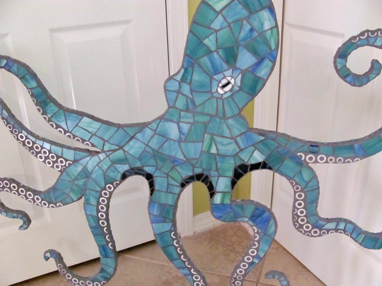 Octopus Mosaic Wall Art Large 4 Ft Stained Glass Mosaic