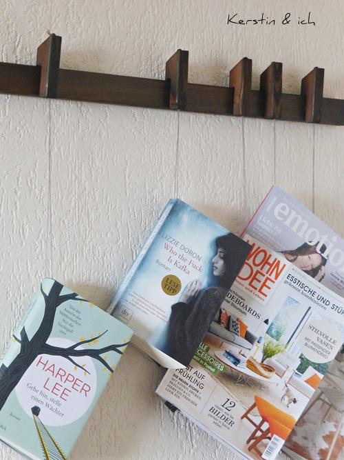 DIY Bücherregal schwebende Bücher