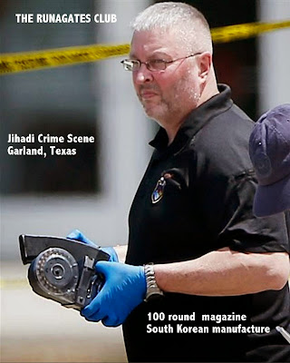 Garland Texas Shooting - 100 round drum for assault rifle