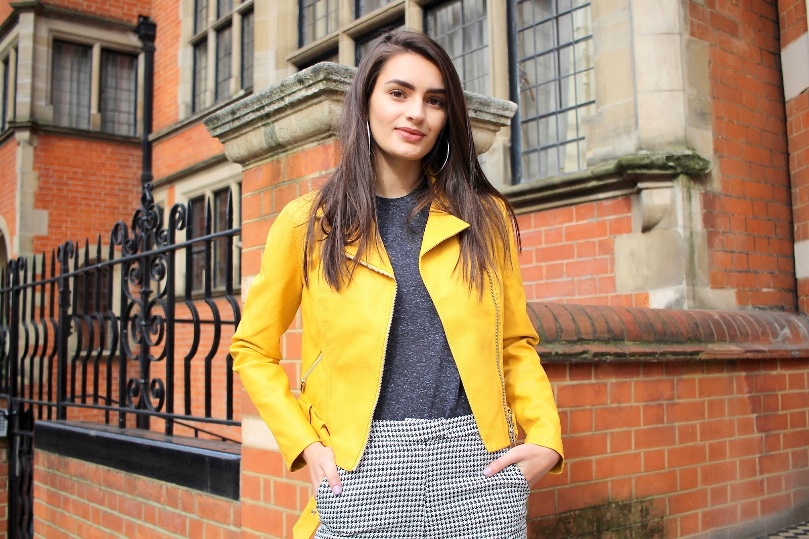 yellow biker jacket new look peexo style