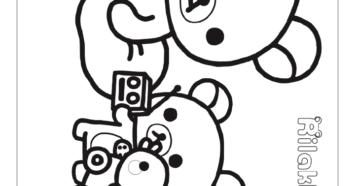 Rilakkuma coloring 18 our study room for Rilakkuma coloring pages