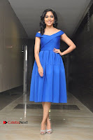 Actress Ritu Varma Pos in Blue Short Dress at Keshava Telugu Movie Audio Launch .COM 0035.jpg