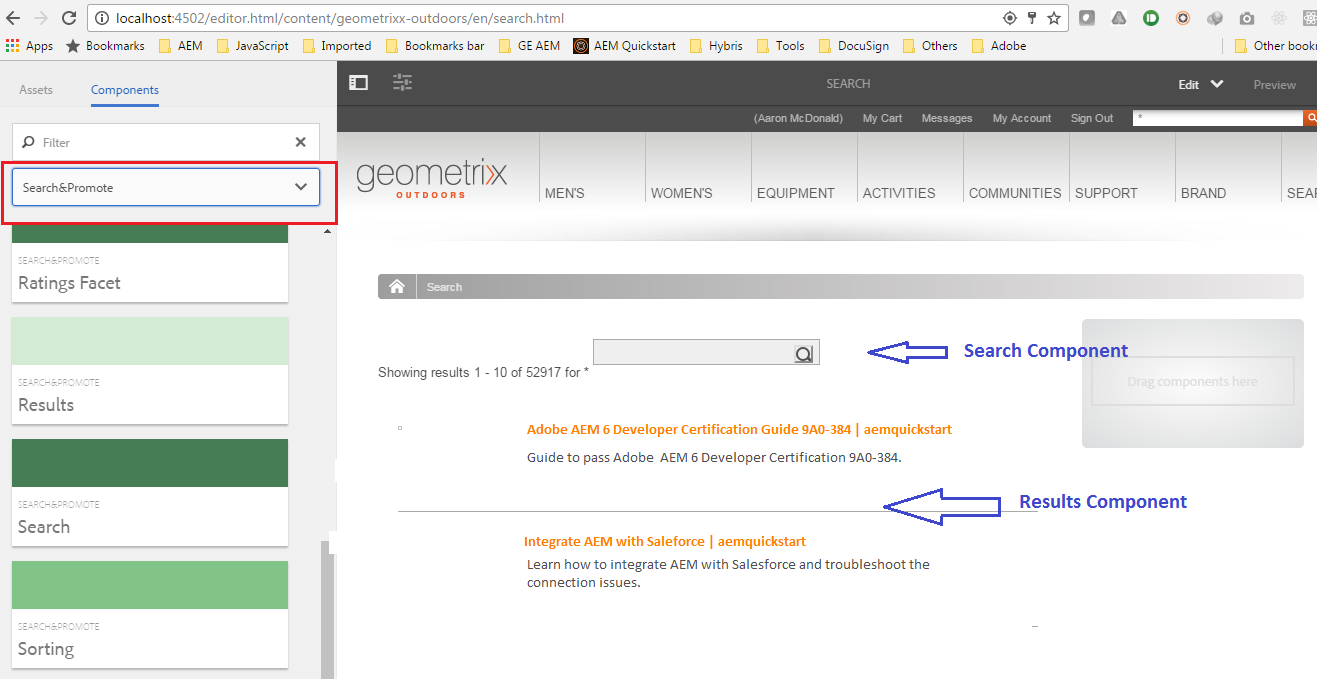 Integrate Aem With Adobe Search And Promote
