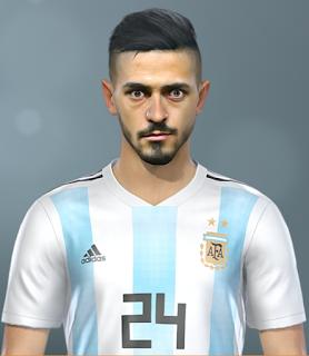 PES 2019 Faces Manuel Lanzini by SeanFede